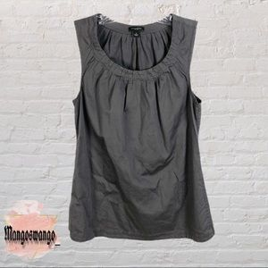 Ann Taylor Dark Grey Sleeveless Blouse